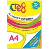 32 Sheets A4 Fluorescent Craft Paper