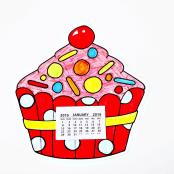 Cupcake Colour In Calendar Kit - 1 Kit