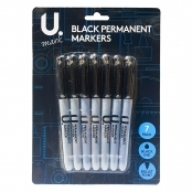 Black Permanent Markers(Set Of 7 Pens)