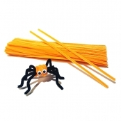 Orange Pipe Cleaners - Pack of 100