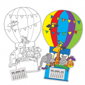 Hot Air Balloon Calendar Kits - 10 PACK