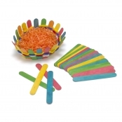 Coloured Jumbo Lolly Sticks(Pack Of 100)