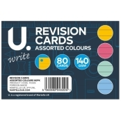 Assorted Colours Revision Cards(pack Of 80)