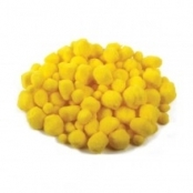 Bright Yellow Pom Poms Assorted Sizes(pack Of 100)