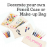 Pencil Case or Make-Up Bag to Decorate - Plain Natural Cotton