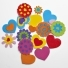 Flowers and Hearts Foam Stickers for Crafts