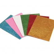 Self Adhesive Glitter Foam Sheets - 6 Pack