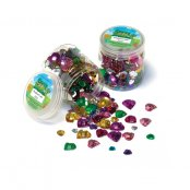 Heart Shaped Jewels - 300 Pack