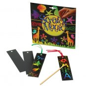 Scratch Art Book Marks - 12 Pack