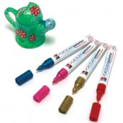 Marabu Glitter Porcelain Pen Red
