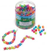 Coloured Alphabet Beads - 700 Pack
