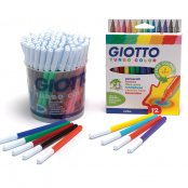 Giotto Turbo Fine Felt Tip Pens - Pack of 12