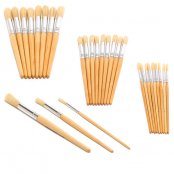 Major Brushes Size 12 Hog Brushes - Pack of 10