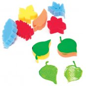 Set Of 8 Assored Leaf Sponges