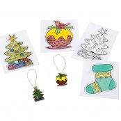 Shrinkles Christmas Magnet Decorations - 4 Pack