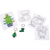Shrinkles Christmas Keyrings - 4 Pack