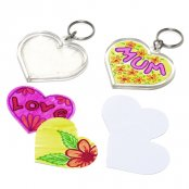 Design-a-Heart Keyring