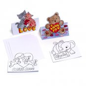 'With Love' Pop-Up Greeting Cards to colour in