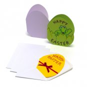 Coloured Easter Egg Greeting Cards - 3 Pack