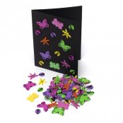 Foam Glitter Bug Stickers