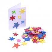 Foam Glitter Star Stickers