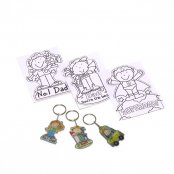 Father's Day Shrinkle Keyrings (4 Pack)