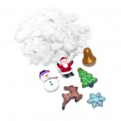 Christmas Polystyrene Shapes (pack Of 35)