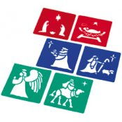 Nativity Stencil Set (set Of 6)