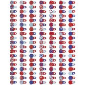 Decopatch Paper 568 - Half Sheet - Red White & Blue Babuska