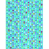 Decopatch Paper 410 - Half Sheet - Turquoise Small Hearts