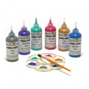Pearlescent Fabric Paints  6 x 180ml