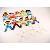 Girl Card Cut-outs - 24 Pack