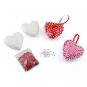 Sequin Heart Kit - Pink