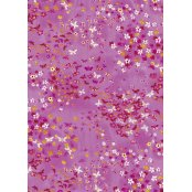 Decopatch Paper 505 -  Half Sheet - Pink and Yellow Flowers with Butterflies