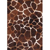 Decopatch Paper 209 - Half Sheet - Dark Giraffe Print