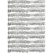 Decopatch Paper 468 - Half Sheet - Black & White Music Notes
