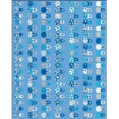 Decopatch Paper 578 - Half Sheet - Blue Small Babuska Dolls