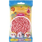 Hama Beads Solid Colours 1000 Pack - 06 Pink