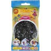 Hama Beads Solid Colours 1000 Pack - 18 Black