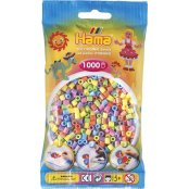 Hama Beads 1000 Pack - 50 Pastel Mix