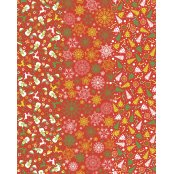 Decopatch Paper 585 - Full Sheet - Red Christmas Print