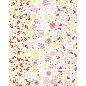 Decopatch Paper 587 - Full Sheet - White Christmas Print