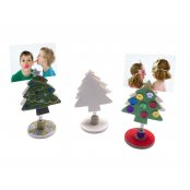 Wooden Christmas Tree Picture Holder