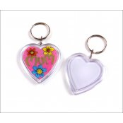 Mini Heart Acrylic Keyring - small