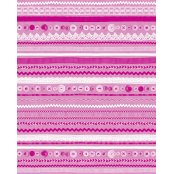 Decopatch Paper 593 - Half Sheet - Pink, White Stripes & Circles