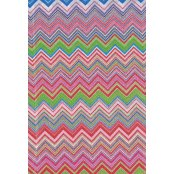 Decopatch Paper 603 - Half Sheet - Colourful Zig Zag