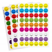Mini Smile Face Stickers - 35 Stickers
