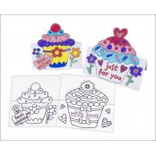 Cup Cake Pop Up Cards (pack Of 8)