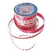 Heart Patterned Ribbons (6 Pack)