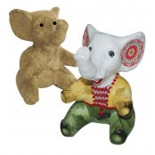 Decopatch Paper Mache Extra Small Sitting Elephant - AP132
